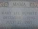 Profile photo:  Mary Lee <I>Sellers</I> Bobbitt