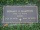 Profile photo:  Donald H. Hampton