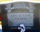 Profile photo:  Ann M <I>Benson</I> Hamm