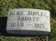 Profile photo:  Alice <I>Gillespie</I> Abbott