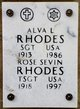 Profile photo: SGT Alva L Rhodes
