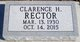 Profile photo:  Clarence H. Rector