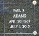 Profile photo:  Paul R. Adams