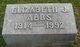 """Profile photo:  Elizabeth Jane """"Betty"""" <I>Ingraham</I> Abbs"""