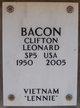 "Profile photo:  Clifton Leonard ""Lennie"" Bacon"