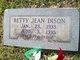 Profile photo:  Betty Jean Dison