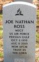 MSGT Joe Nathan Ross