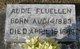 Profile photo:  Addie Fluellen