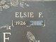Profile photo:  Elsie F Bane