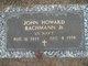 Profile photo:  John Howard Bachmann Jr.