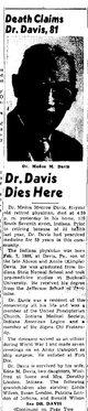 Profile photo: Dr Medus Monroe Davis