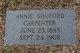 Profile photo:  Annie L. <I>Shuford</I> Carpenter