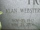 Profile photo:  Alan Webster Trotman