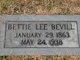 Profile photo:  Bettie <I>Lee</I> Bevill