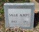 """Sarah """"Sallie"""" Albert"""