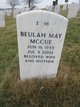 Profile photo:  Beulah May McCue