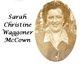 Sarah Christine <I>Waggoner</I> McCown