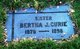 Profile photo:  Bertha Jane <I>Chapman</I> Curie