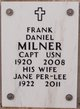 Profile photo: Capt Frank Daniel Milner