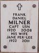 Capt Frank Daniel Milner