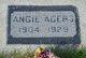 Angie <I>Davis</I> Agers