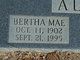 Bertha Mae <I>Stevens</I> Allard