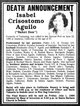 Isabel San Nicolas <I>Crisostomo</I> Aguilo