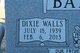 Dixie <I>Walls</I> Barbour