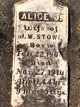 Profile photo:  Alice Jeanette <I>Joyner</I> Stowe