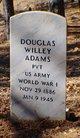 Pvt Douglas Willey Adams