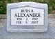 Ruth Belle <I>Baker</I> Alexander