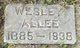 Profile photo:  Wesley Sherman Allee