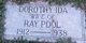 Profile photo:  Dorothy Ida Pool