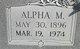 Profile photo:  Alpha M. Fergeson