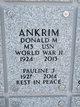 "Profile photo:  Donald Martin ""Ears"" Ankrim"