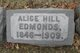 Profile photo:  Alice <I>Hill</I> Edmonds