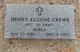 """Profile photo:  Sidney Eugene """"Gene"""" Crews"""
