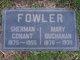 Mary <I>Buchanan</I> Fowler