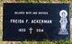Freida Florence <I>Ingram</I> Ackerman