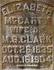 Elizabeth <I>McCarty</I> Clark