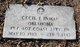 """Profile photo:  Cecil Ira """"Cecil"""" Inman"""