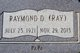 "Profile photo:  Raymond Dempsey ""Ray"" Andrews"