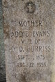 Profile photo:  Addie Jane <I>Evans</I> Burriss