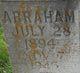 "Profile photo:  Abraham ""Abe"" Brotherton"