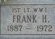 Profile photo: Lieut Frank H. White