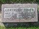 Profile photo:  Gertrude <I>Spencer</I> Boler
