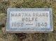Martha Brand Wolfe