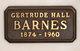 Gertrude Evelyn <I>Hall</I> Barnes