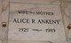 Profile photo:  Alice Ruth <I>Cooper</I> Ankeny