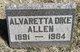 Profile photo:  Alvaretta <I>Dike</I> Allen